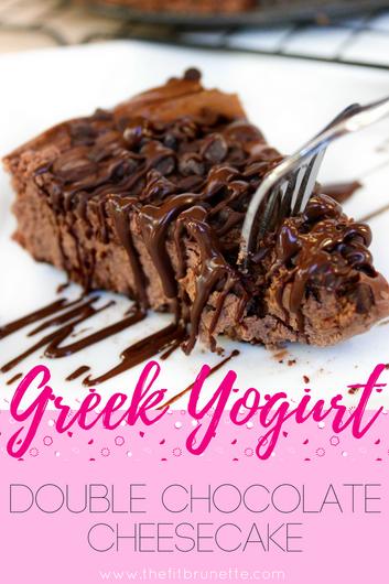 Greek Yogurt Double Chocolate Cheesecake