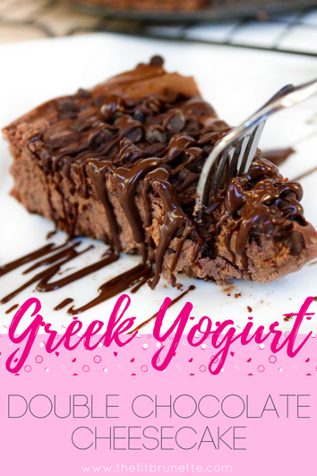 Greek Yogurt Double Chocolate Cheesecake
