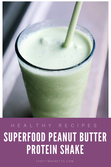 Superfood Peanut Butter Protein Shake | Quick & Easy Breakfast Recipe