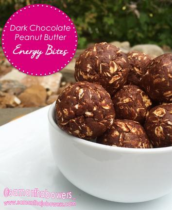 Dark Chocolate Peanut Butter Energy Bites