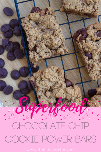 Superfood Chocolate Chip Cookie Power Bars