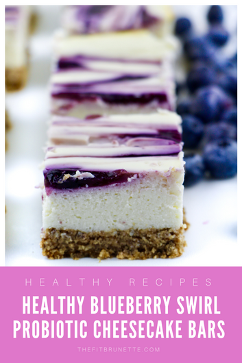 You'd Never Guess These Blueberry Swirl Probiotic Cheesecake Bars Only Have 4g of Sugar (And Are
