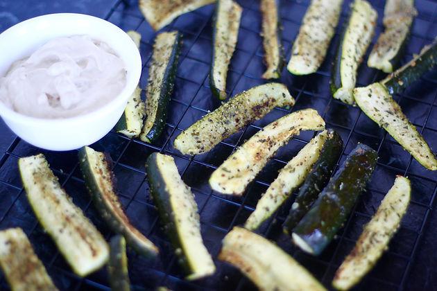 Oven Baked Garlic Zucchini Fries Samantha Bowers The