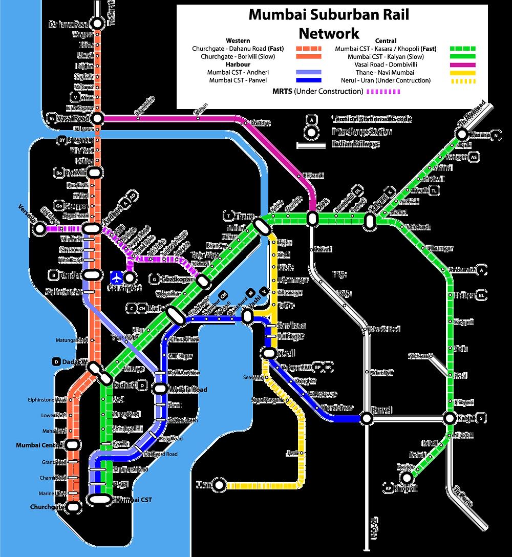 Mumbai Railway Map