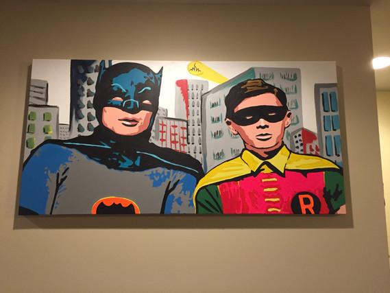 """Batman/Robin 48""""x24"""" ($350)"""