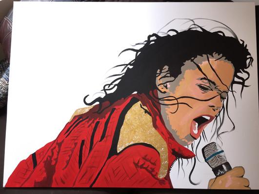 "Michael Jackson 36""x48"" ($200)"