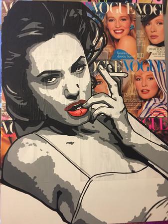 """Angelina 40""""x30"""" ($350)"""