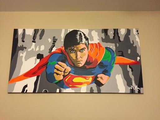 "Superman 48""x24"" ($350)"