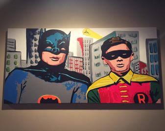 "Batman and Robin 48""x24"" ($350)"