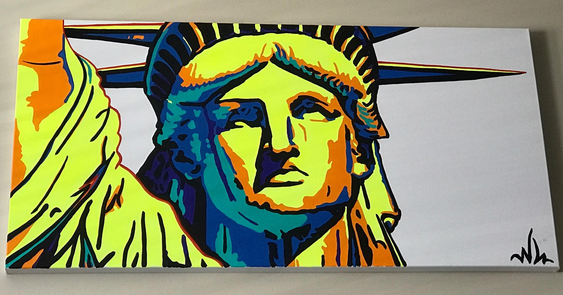 """Lady Liberty 48""""x24"""" ($350)"""