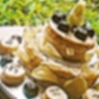 Lemon Drizzle cake with Lavender Cream a