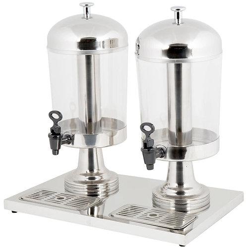 4.2 Gallon Stainless Steel Double Beverage Dispenser
