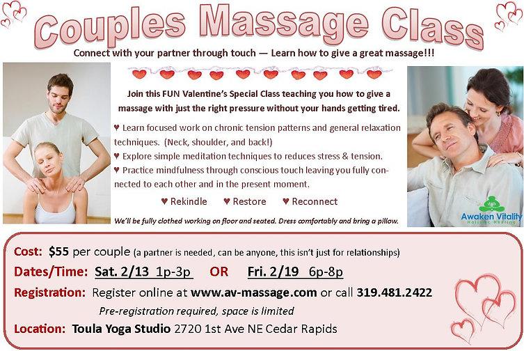 Couples Massage Training Class