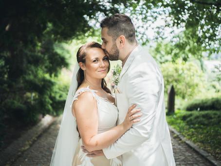 Svatba v botanické zahradě