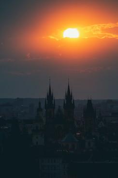 Boží oko nad Prahou