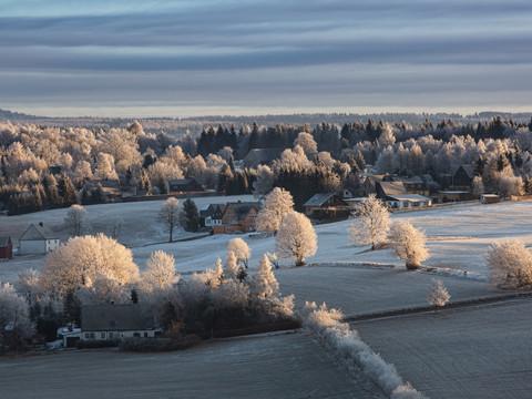 Krušné hory v zimě