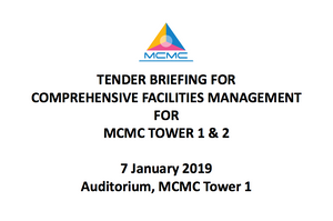 TENDER BRIEFING FOR COMPREHENSIVE FACILITIES MANAGEMENT