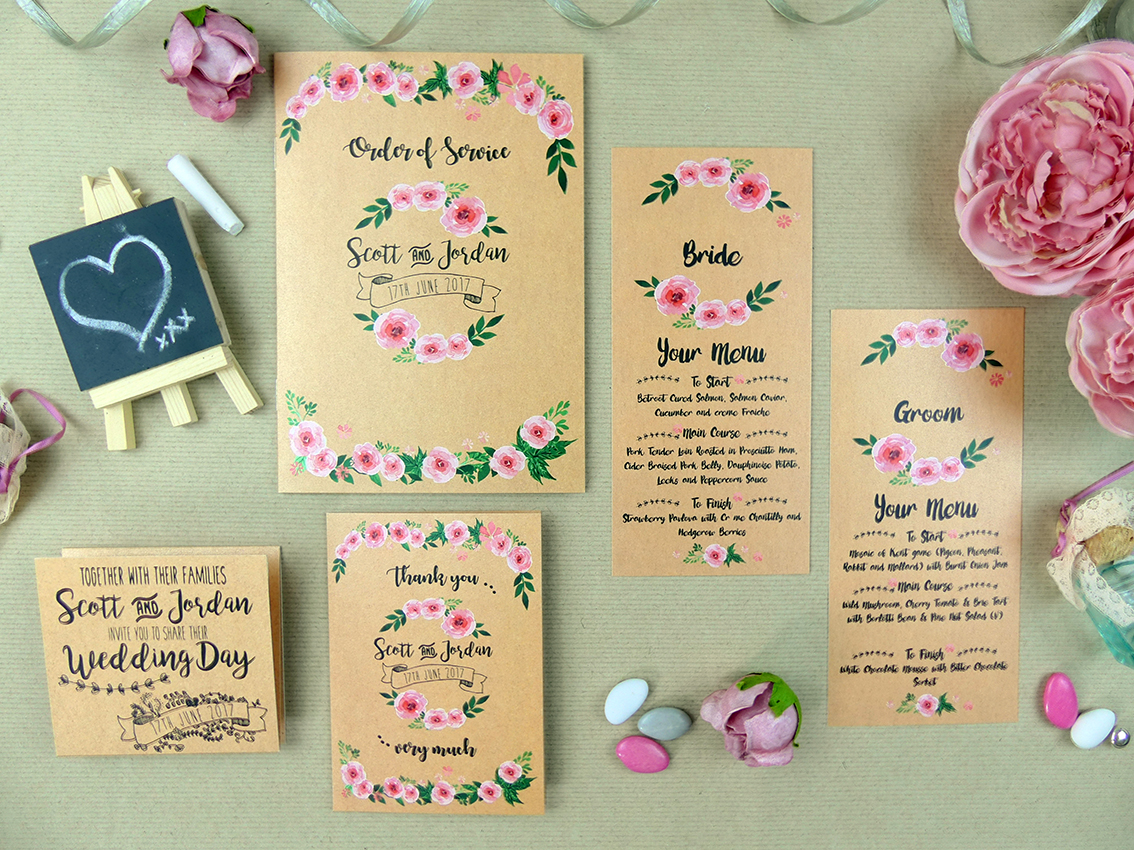 Jordan & Scott's stationery