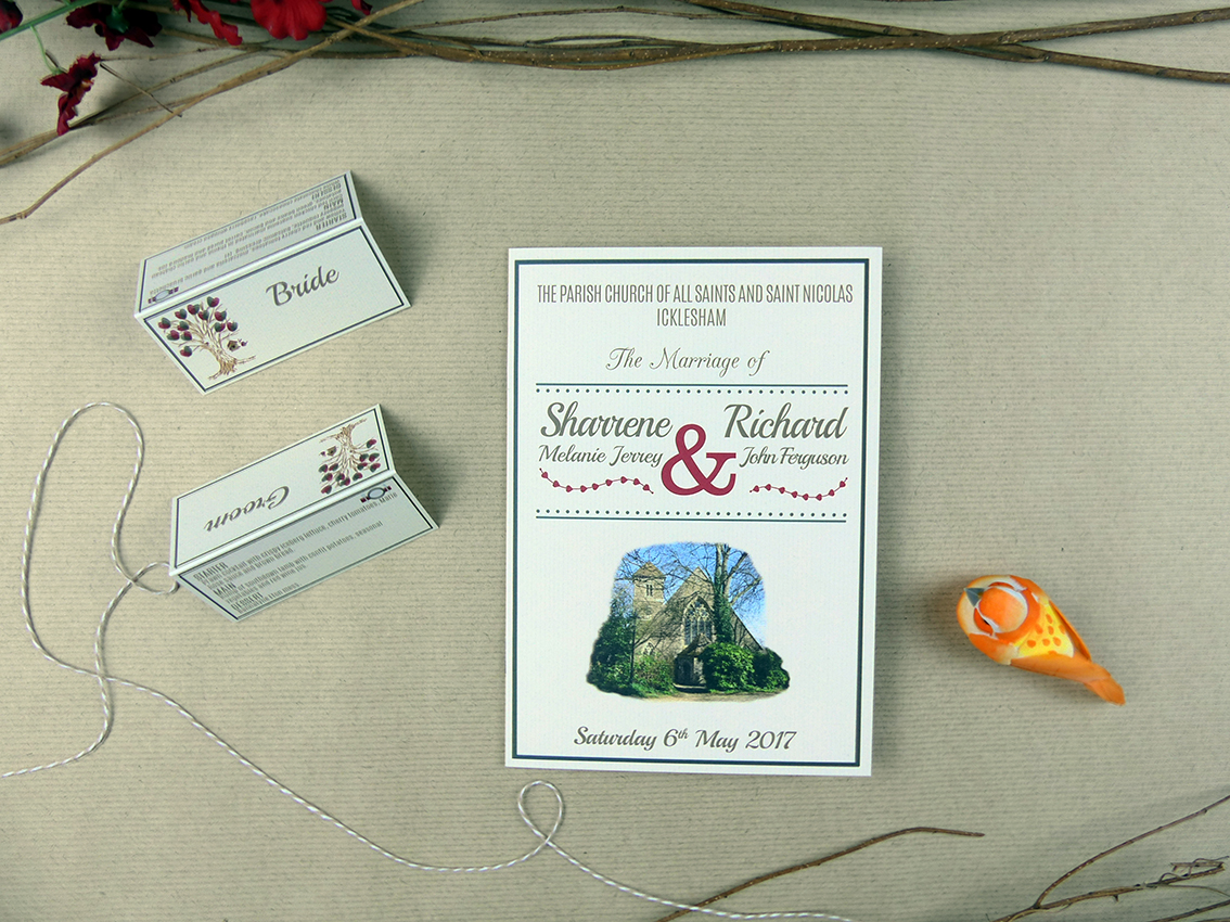 Sharrene & Richard's stationery