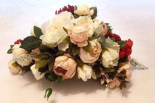 Blumenstrauß M länglich rosa/weinrot