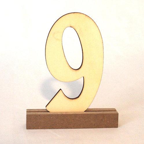 Tischnummer Holzzahl