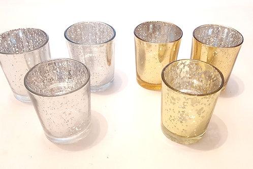 Teelichhalter 3er Set gold oder silber