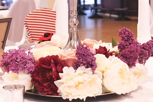 Blumenkranz für Kerzenständer