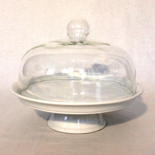 Tortenplatte mit Glasglocke