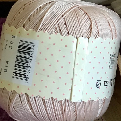 Cotton Crochet Thread - Pale Pink