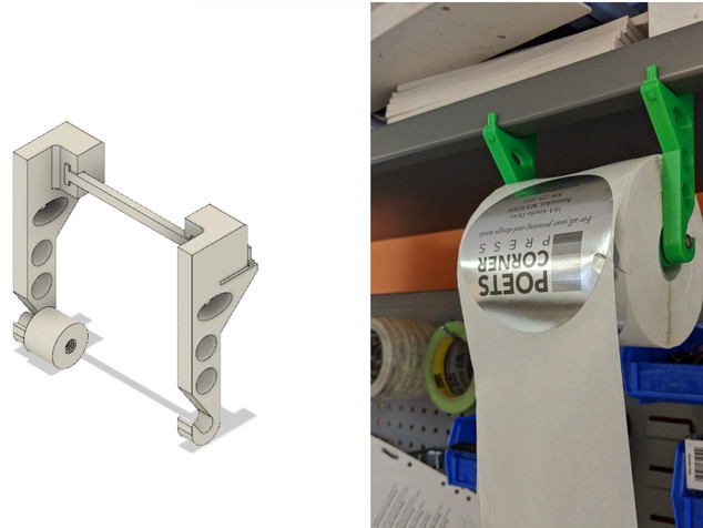 Holder for Roll of Stickers