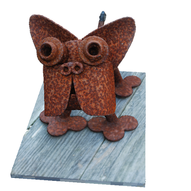 Rusty Pug Deck Ornament