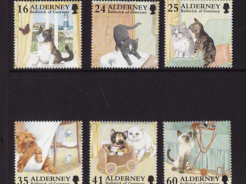 ALDERNEY - CATS  MNH  1996