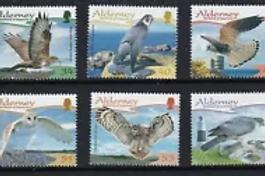 ALDERNEY - BIRDS 3rd SERIES RAPTORS  2008