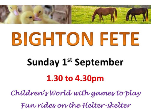 Don't miss Bighton Fete!