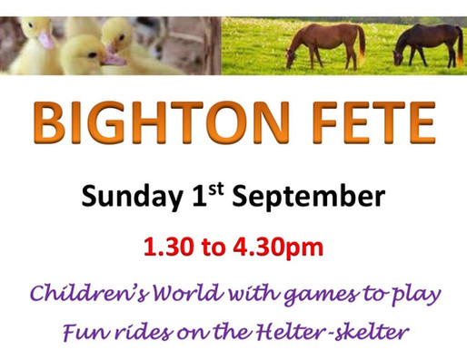Don't miss Bighton Fete!