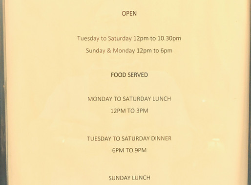 We Have a Pub Again - Opening Times!
