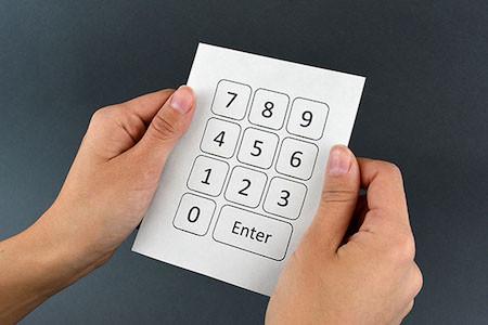 Электронное устройство на бумаге
