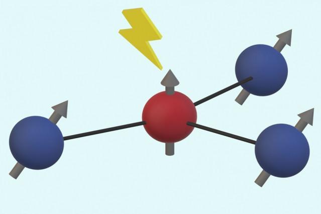 Коррекция ошибок в квантовых элементах на основе атомов углерода вблизи дефекта кристаллической решетки алмаза