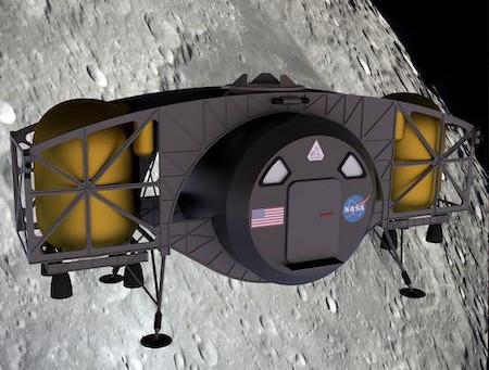 Представлено видео лунного посадочного модуля NASA