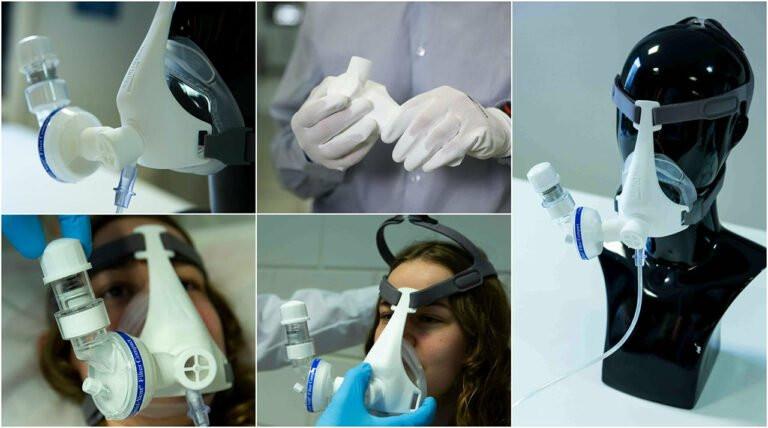 Кислородные маски компании Materialise. По материалам с официального сайта Materialise