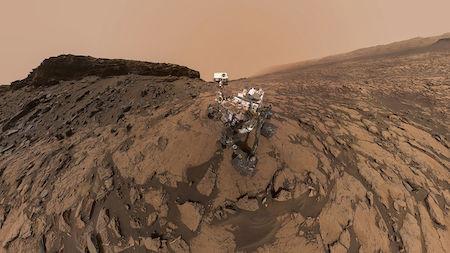 7 удивительных фотографий, снятых марсоходом Curiosity