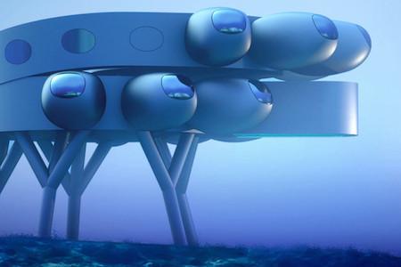 Футуристический дизайн международной подводной лаборатории