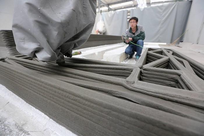 Новый 3D принтер позволит строить здания и мелкие структуры из бетона, фарфора, глины и других строительных материалов