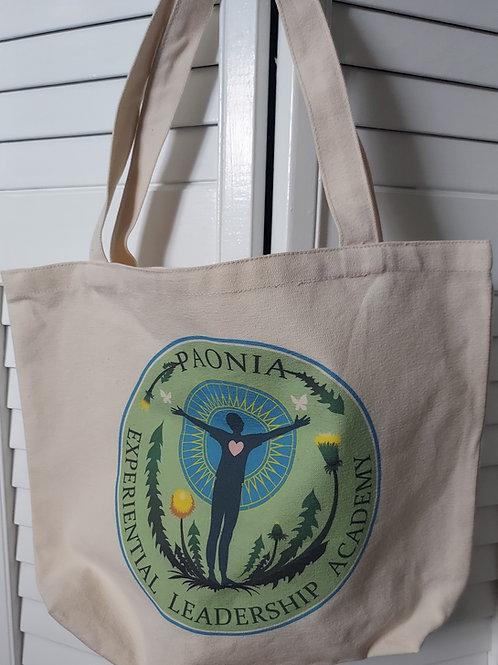 Canvas Tote Bag with PELA Dandelion Logo