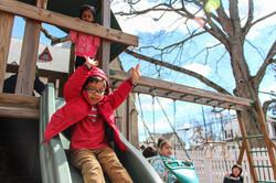 Stamford Preschool Boy on Slide