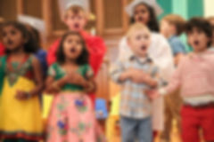 Stamford Preschool children singing Union Memorial Preschool