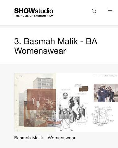 Basmah Malik SHOWstudio