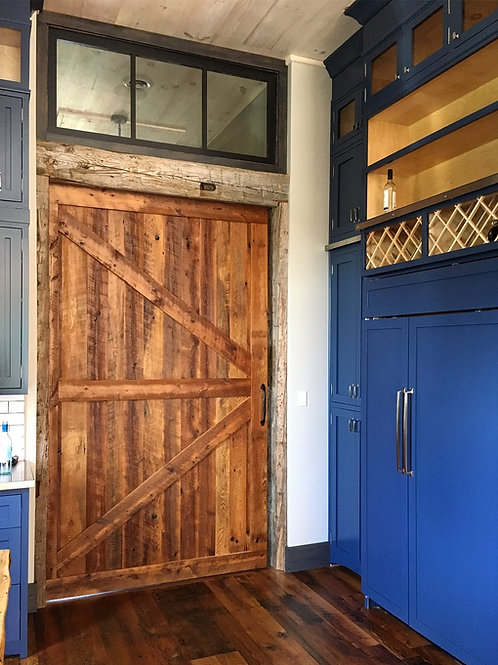 Reclaimed hemlock barn door