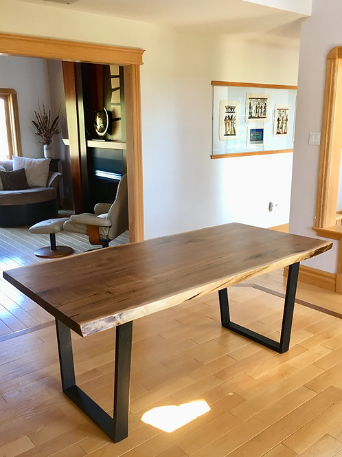 Rescued walnut live edge kitchen/dining table