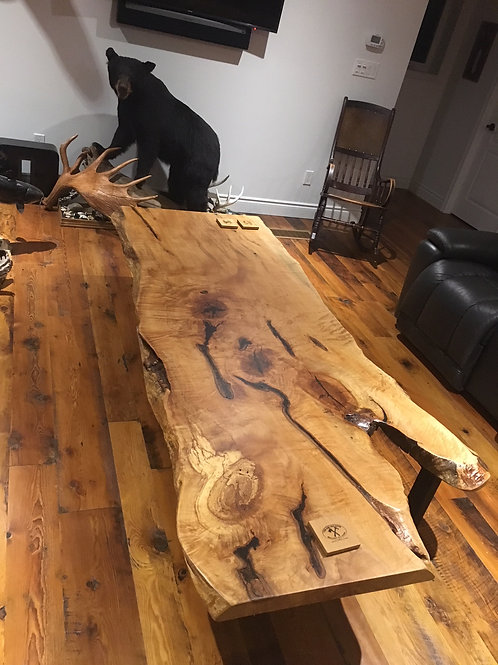 Rescued hard maple coffee table